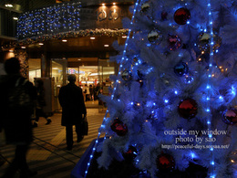 クリスマスイブの街