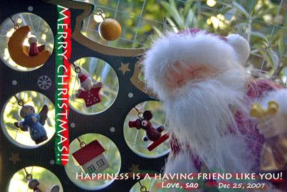 去年のクリスマスカード